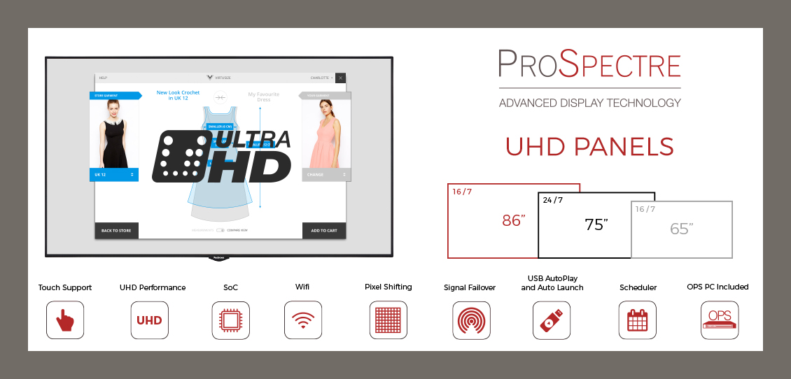 prospectre professional display uhd