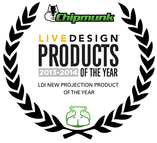 HIPPOTIZER CHIPMUNK - LIVE DESIGN PROJECTION PRODUCT OF THE YEAR