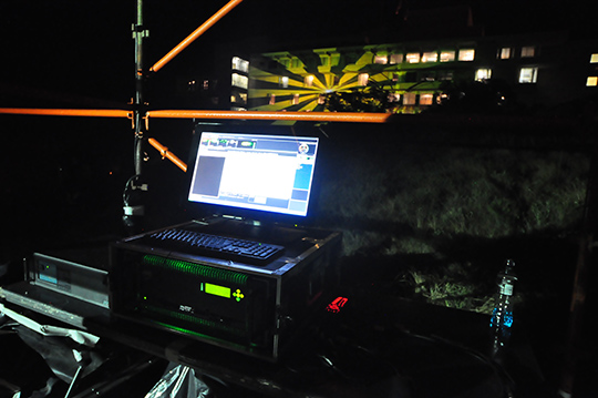 TECHRIG & ELECTROSONIC SA COLLABORATE ON VIDEO MAPPING AT NAF