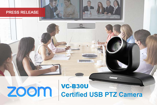 Lumens VC-B30U Camera now Certified by Zoom