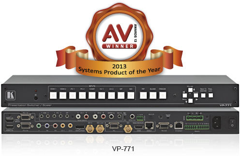 KRAMER WINS MANUFACTURER OF THE YEAR & SYSTEMS PRODUCT OF THE YEAR AV AWARDS
