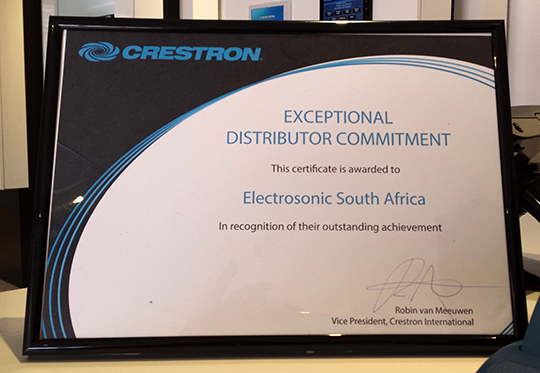 ELECTROSONIC SA HONOURED AT ISE